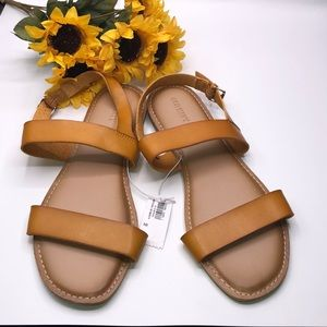 Old Navy Faux-leather Slingback Mustard Sandals